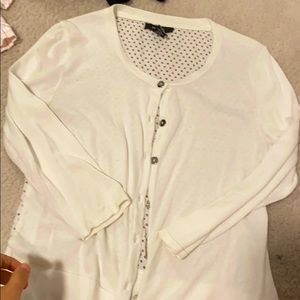 Alfani white button up jacket